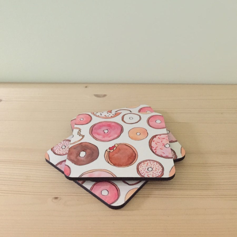 Image of donut coasters