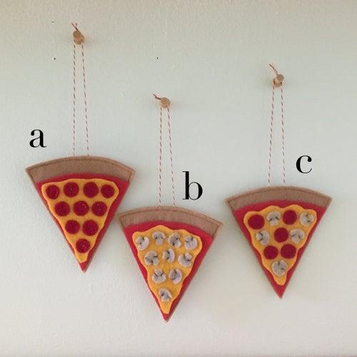 Image of pizza slice ornament