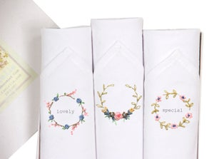 Image of Set of lady's hankies: Lovely