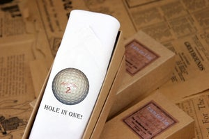 Image of men's Handkerchief: Hole in One!