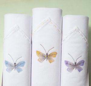 Image of Ladies hankies: Butterflies set