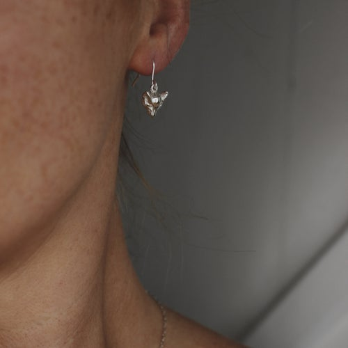 Image of fox earrings with hooks