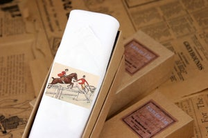 Image of Man's Handkerchief in a Gift Box: Hunting