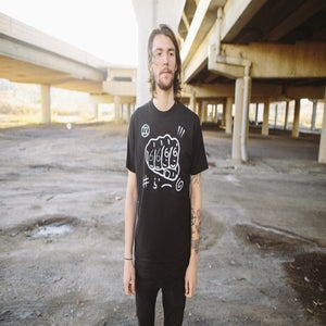 """Image of Four Fists """"6666"""" Shirt (BLACK)"""