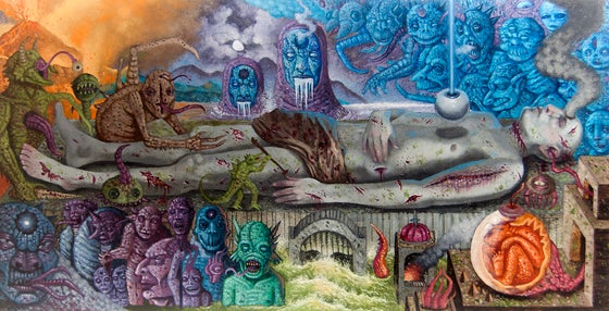 "Image of ""Final Cessation of Birth/ Death"" 13""x25"" Limited Edition Giclée Print"