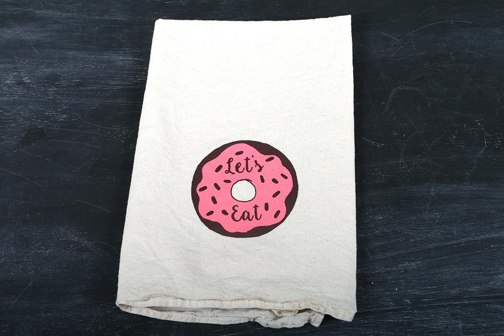 Image of Let's Eat, Tea Towel