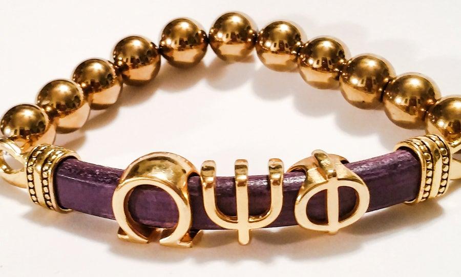 "Image of Urban Ellegance HBCU ""Alumni"" Bracelet (Omega Psi Phi Half"