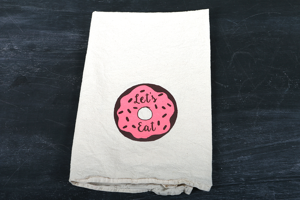 Image of Eat Your Veggies, Bacon and Let's Eat, Tea Towel Set