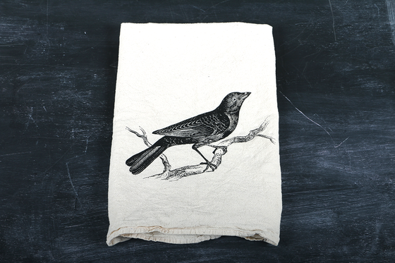 Image of Blackbird Tea Towel