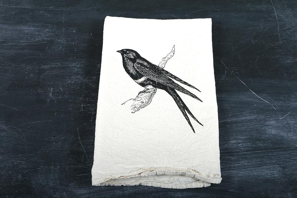 Image of Swallow Bird Tea Towel