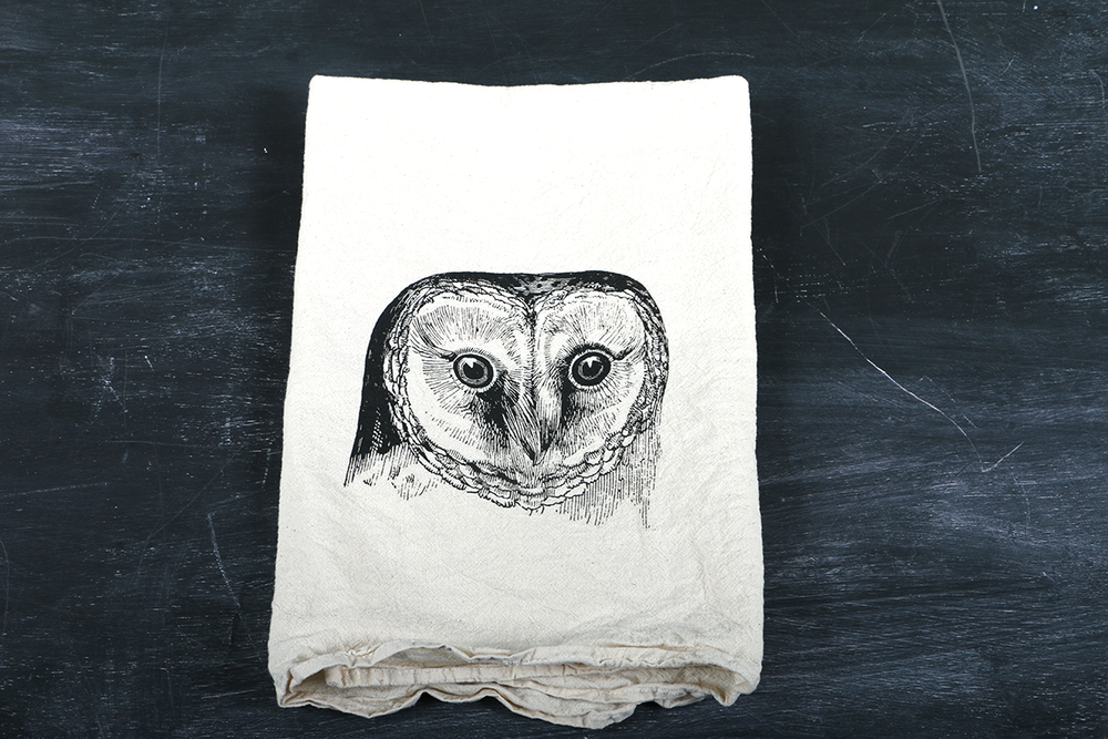 Image of Owl Tea Towel