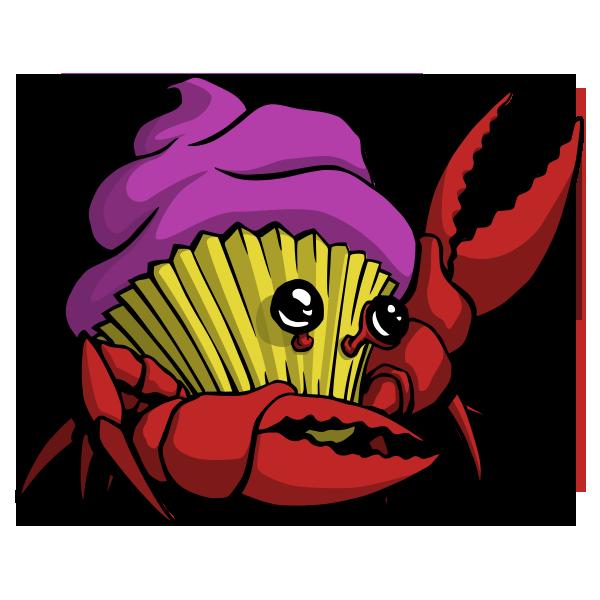 Image of Crabcake T-shirt (Dark Gray)