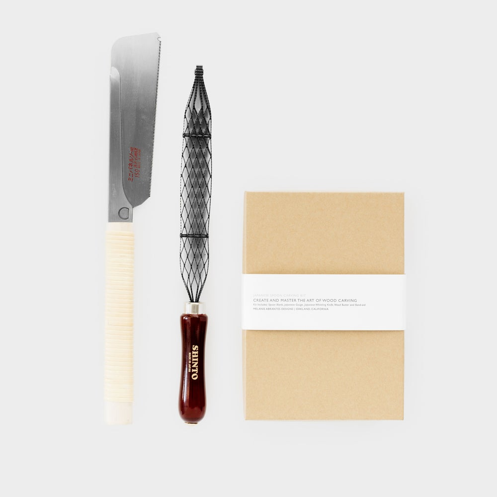Image of Deluxe Spoon Carving Kit with Saw and Rasp