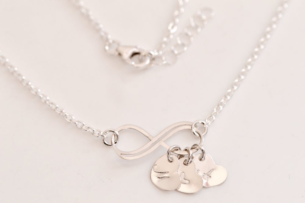 Image of Dainty Personalized Heart Infinity Necklace