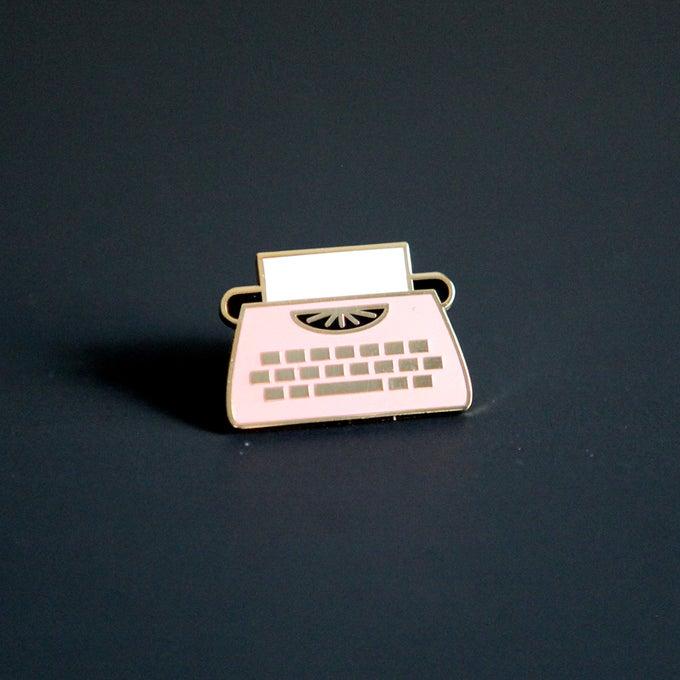 Image of Enamel Typewriter Pin