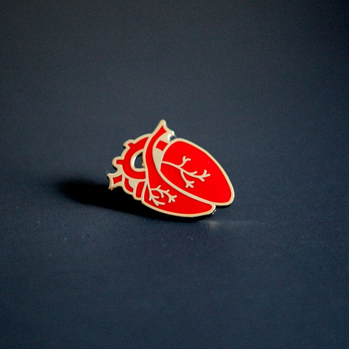 Image of Enamel Heart Pin