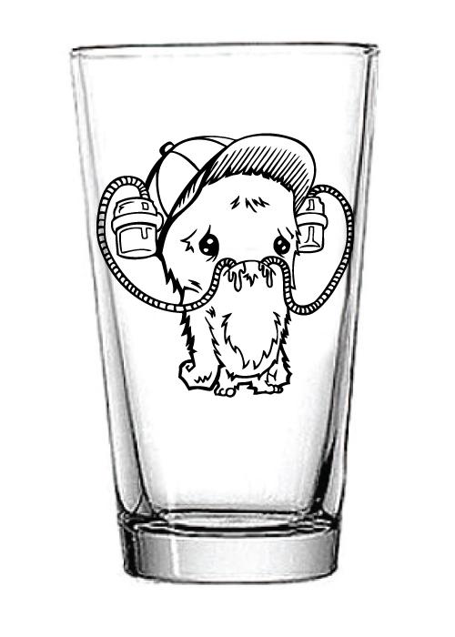 Image of Beer Helmet Monster Pint Glass