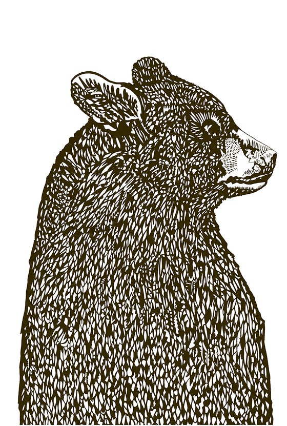 Image of Happy Bear screen print