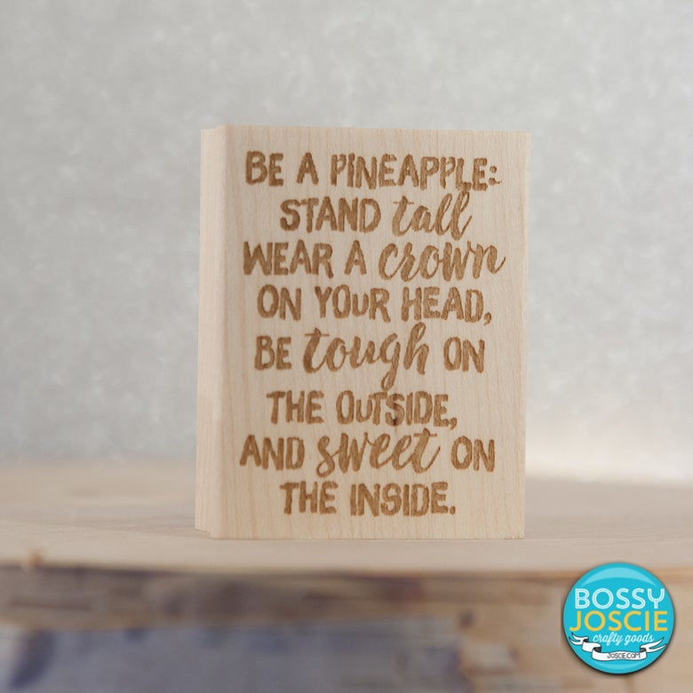 Image of Be A Pineapple stamp
