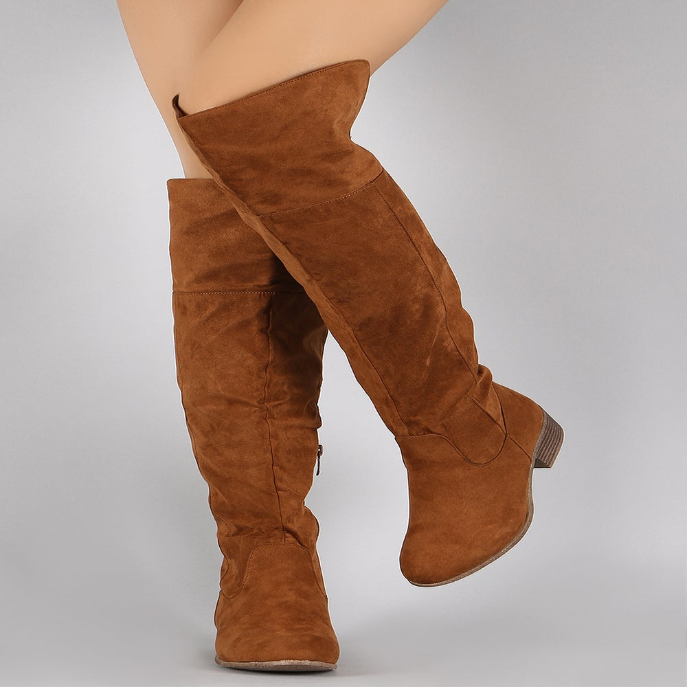 Image of Camel Fetty Knee High Riding Boots