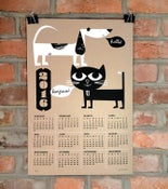 Image of 2016 Wall Calendar - Silkscreen Cat & Dog Buds