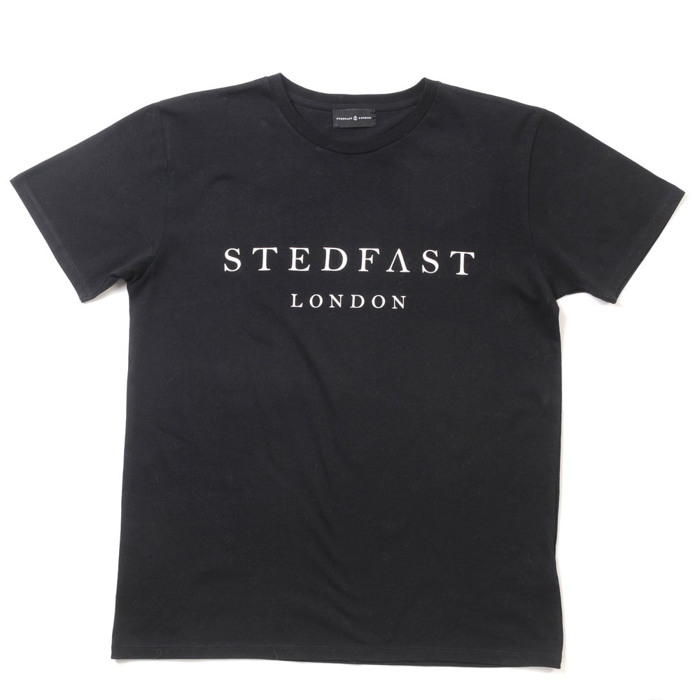 Image of Mens Stedfast London black T-shirt