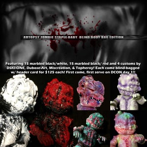 Image of Autopsy Zombie Staple Baby DCON Exclusive Blind Body Bag Edition!