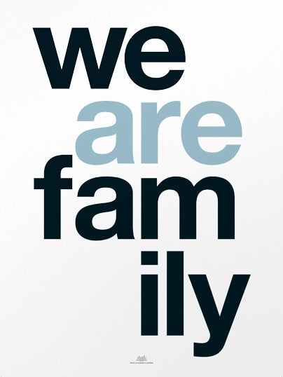 Image of Affiche We Are Family