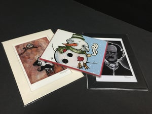 Image of Holiday Bundle #1  -CHOOSE- 2 Mini Prints & 1-4 pack of Holiday Cards