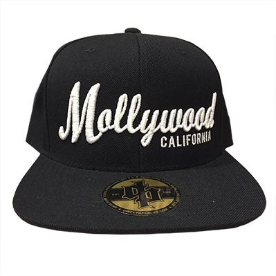 Image of Dirty Paper Mollywood California Snapback Baseball Cap Black