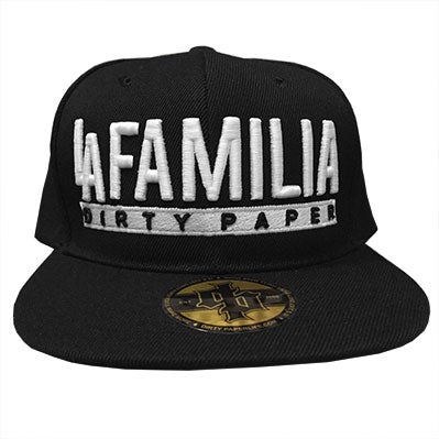 Image of Dirty Paper L.A. Familia Snapback Baseball Cap Black