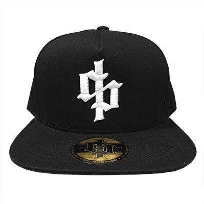 Image of Dirty Paper Dollar Sign Logo Snapback Baseball Cap Black