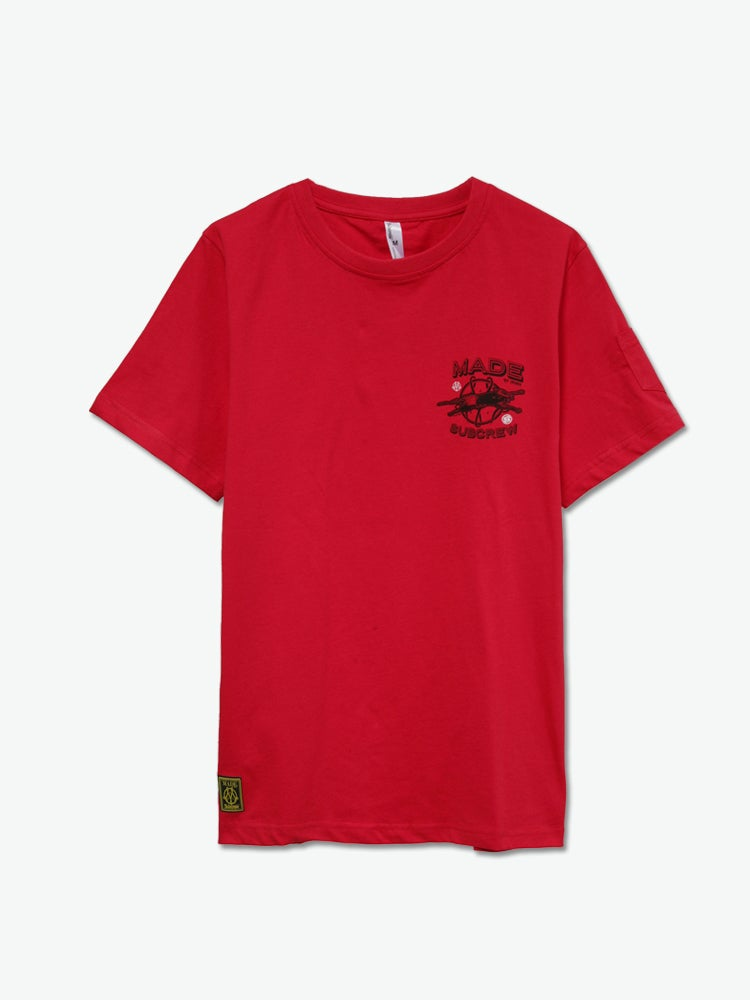Image of Subcrew x Jahan x Jim Philips - Logo Tee (Red)