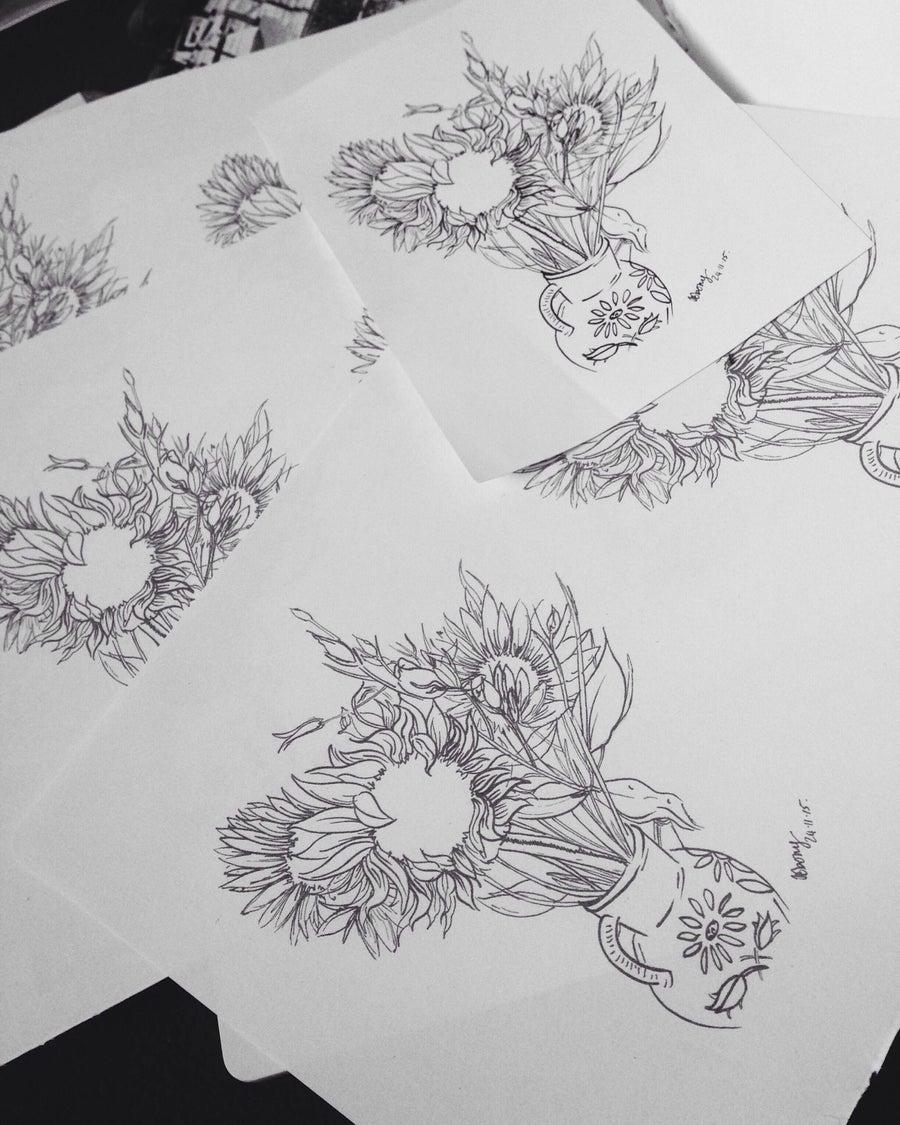 Image of Sunflowers Print.