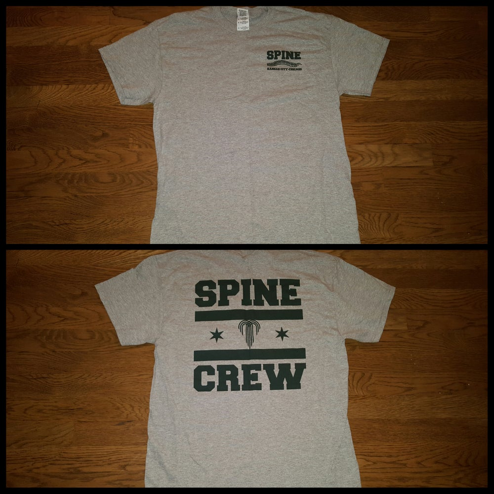 Image of SPINE CREW - HEATHER GREY/GREEN