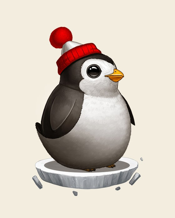 Image of Penguin With Hat