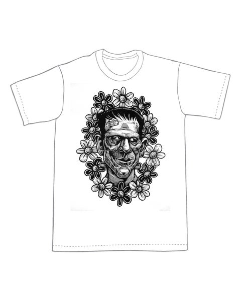 Image of FrankenFlowers T-shirt **FREE SHIPPING**