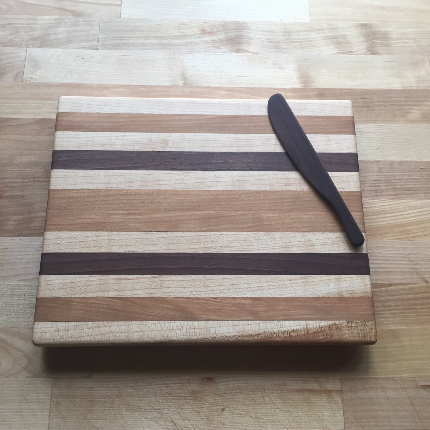 Image of Cherry, Maple, & Walnut Edge-Grain Cutting Board #1