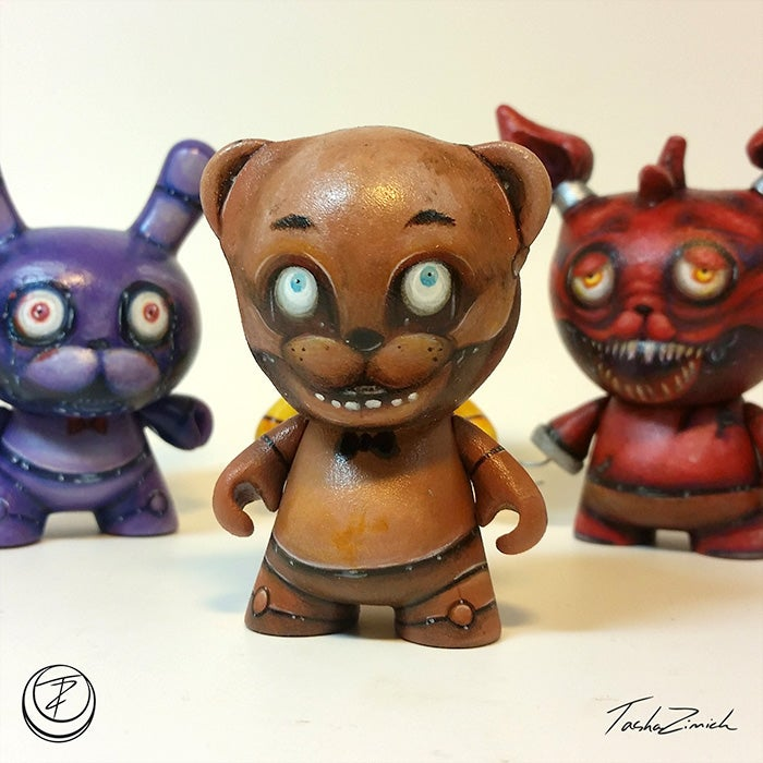 Image of Freddy Fazbear Custom Micro Munny