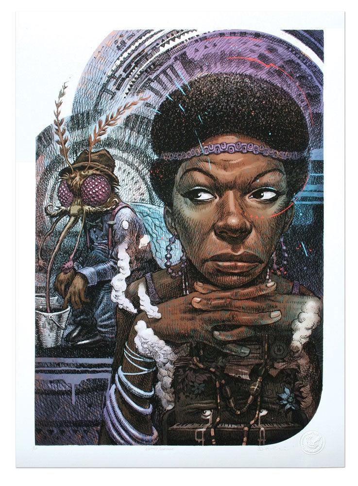 Image of Nina Simone - Limited edition Giclee print