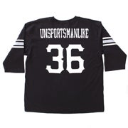 Image of 3/4 Sleeve Vintage Creators Football Jersey - Black