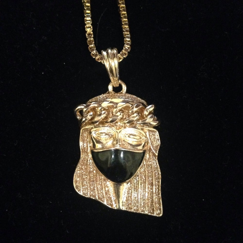 My billionaire lifestyle gold jesus piece with black mask image of gold jesus piece with black mask aloadofball Image collections