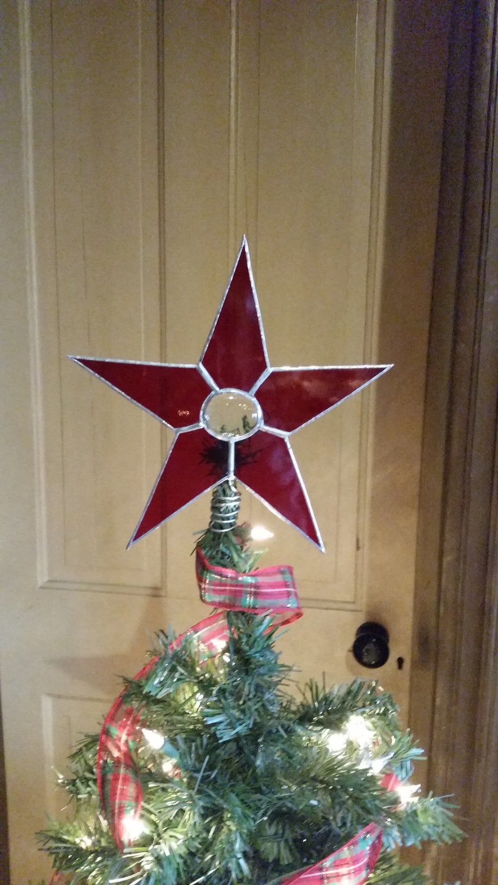 Image of Solid/Gem Tree Star-Tree Topper-stained glass