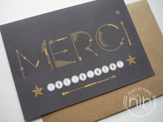 Image of cartes 'merci' ➵➳black sagittas➳➵