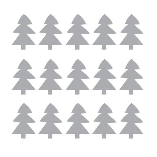 Image of Vinilo Navidad arbolitos grises