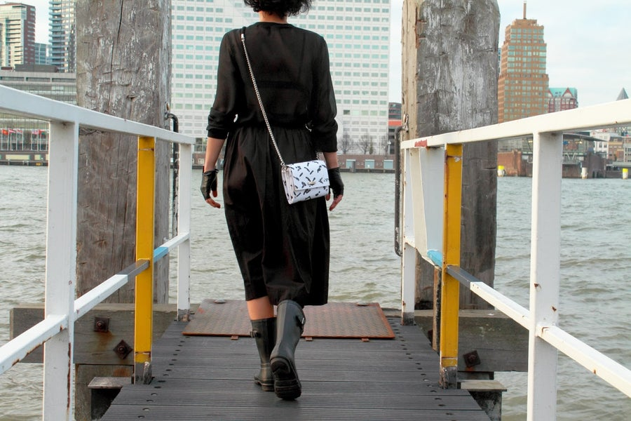 Image of Brush-ink / Clutch Bag