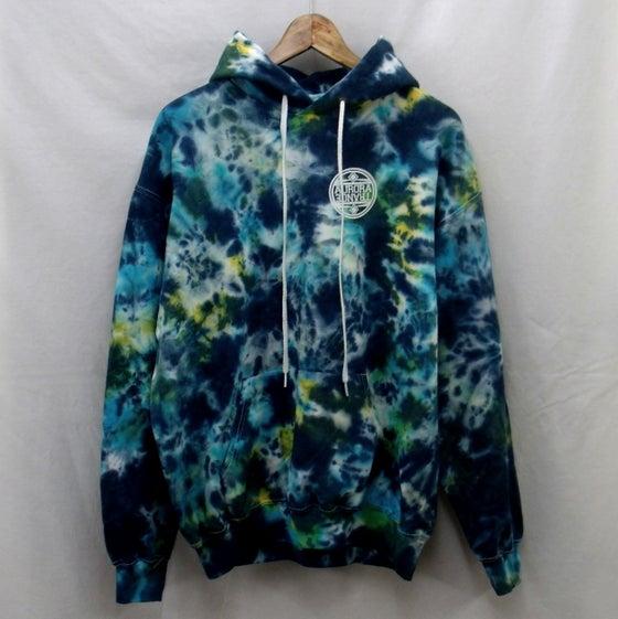 Image of Aqua dream tie dye hoodie
