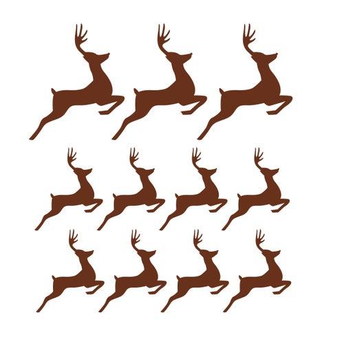 Image of Vinilo Navidad adornos ciervo marrón