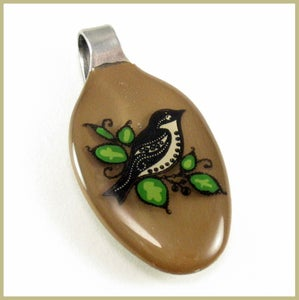 Image of Lark baby spoon pendant