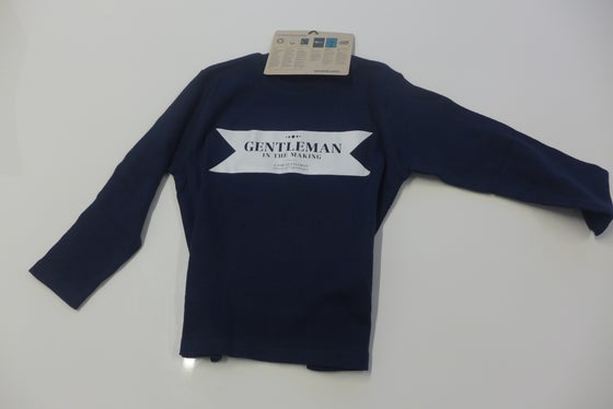 Image of Gentleman in the making - Kids Blue 15/16 - Long sleeve